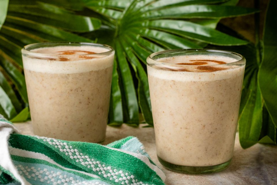 [Sponsored] With the live action version of The Lion King getting its home release, The Geeks have put together a new recipe for Squashed Banana Smoothies! 2geekswhoeat.com #TheLionKing #DisneyRecipes #DisneyFood #DisneySnacks #Smoothie