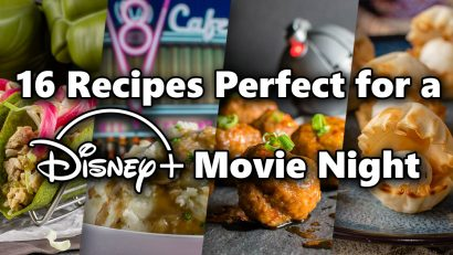 Looking to enjoy an evening or weekend watching Disney+? The Geeks have rounded up 16 recipes inspired by movies on the streaming channel! 2geekswhoeat.com #Disney+ #DisneyRecipes #Disney #StarWarsRecipes #StarWars #PixarRecipes #Pixar #MarvelRecipes #Marvel #GeekyRecipes #GeekyFood