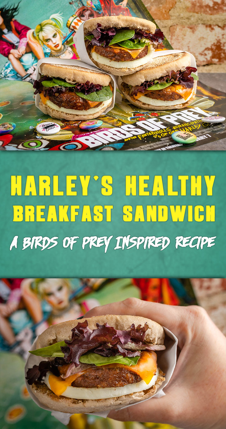 Inspired by Warner Bros.' latest film Birds of Prey, The Geeks have come up with a tasty and healthy breakfast fit for superheroes and antiheroes alike! 2geekswhoeat.com #BirdsofPrey #HarleyQuinn #Breakfast #HealthyRecipes #Breakfast #BreakfastRecipes #HealthyBreakfastRecipes #GeekyFood #GeekyRecipes