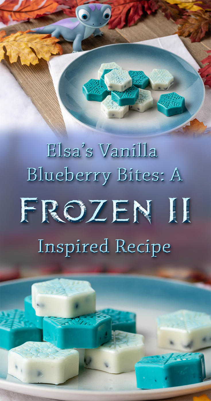 [AD] Frozen 2 is now out on Digital and Blu-ray! The Geeks have created a tasty treat, Elsa's Vanilla Blueberry Bites, perfect for venturing into the unknown! 2geekswhoeat.com #DisneyRecipes #Frozen2 #FrozenRecipes #DisneyFood #EasyRecipes #HolidayTreats