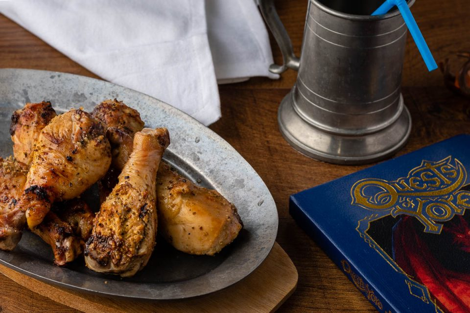 In celebration of the release of Pixar's latest film Onward, The Geeks have created a recipe for Manticore Tavern Drumsticks, inspired by Corey's tavern. 2geekswhoeat.com #PixarFood #Onward #OnwardRecipes #GeekyFood #GeekyRecipes #DisneyFood #DisneyRecipes #Chicken #FamilyFriendlyRecipes #KidFriendly #HealthyRecipes
