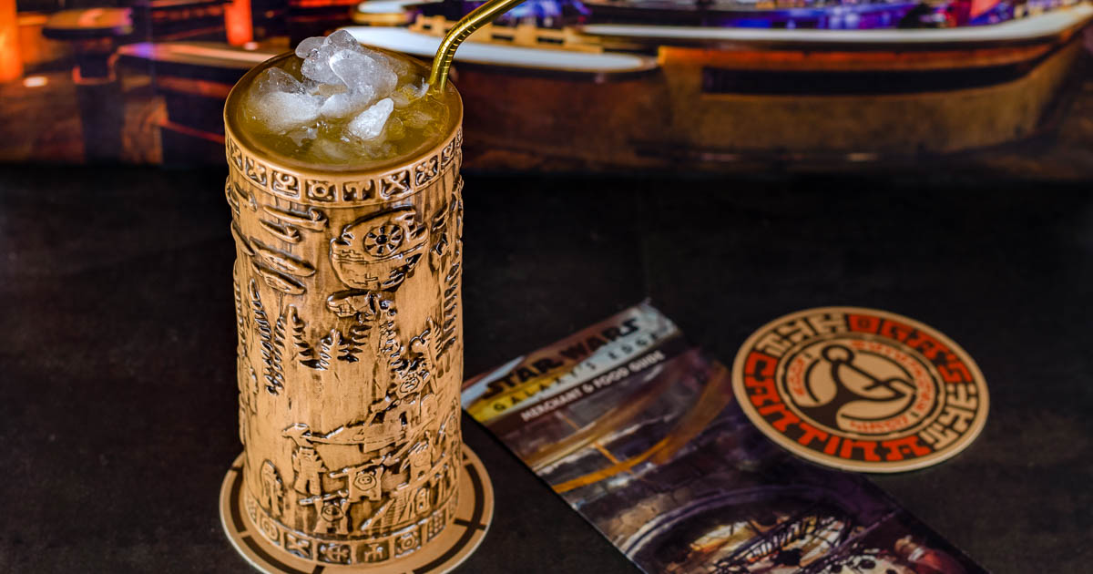 Still missing the Disney Parks, The Geeks have created a copycat recipe for the Yub Nub from Oga's Cantina in Star Wars: Galaxy's Edge! 2geekswhoeat.com #StarWars #StarWarsDay #GalaxysEdge #DisneyCopycatRecipes #DisneyParksRecipes #DisneylandRecipes #WDWRecipes