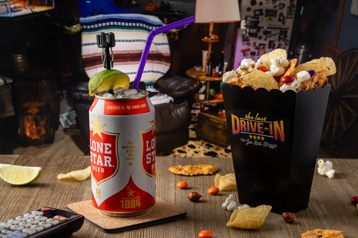 The Geeks have put together a fun Summer Sleepover Special snack and cocktail pairing inspired by The Last Drive-In featuring Joe Bob Briggs. 2geekswhoeat.com #TheLastDriveIn #JoeBobBriggs #Shudder #SleepoverFood #CocktailRecipes #SnackRecipes #Cocktails #Snacks #HorrorInspiredRecipes #HorrorFood #PartyIdeas