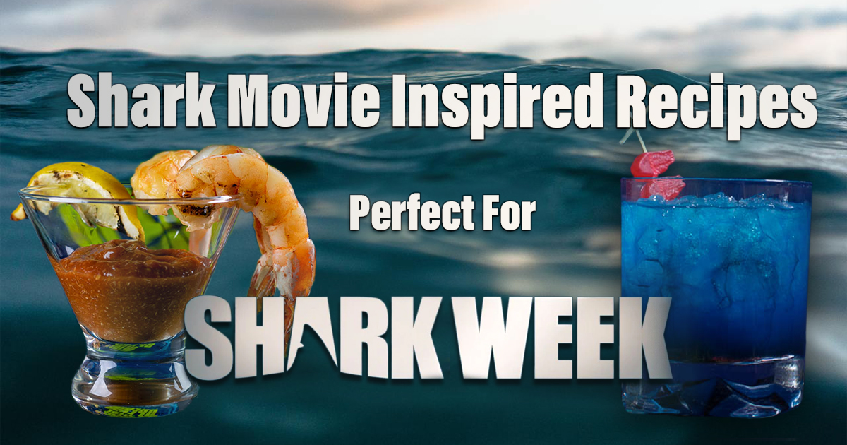 From 47 Meters Down to Jaws, The Geeks have rounded up some shark movie inspired recipes perfect for celebrating Shark Week and sinking your teeth into! 2geekswhoeat.com #SharkWeek #SharkWeek2020 #HorrorRecipes #Horror MovieRecipes #PartyIdeas #Jaws #Sharknado #47MetersDown #CocktailRecipes #DessertRecipes #MainDishRecipes