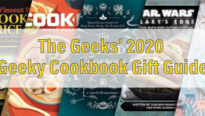 To get ready for Christmas, The Geeks have put together a their Geeky Cookbook Gift Guide for the fandom foodie in your life! 2geekswhoeat.com #geekygifts #cookbooks #geekycookbooks #geekygifts #HolidayGifts