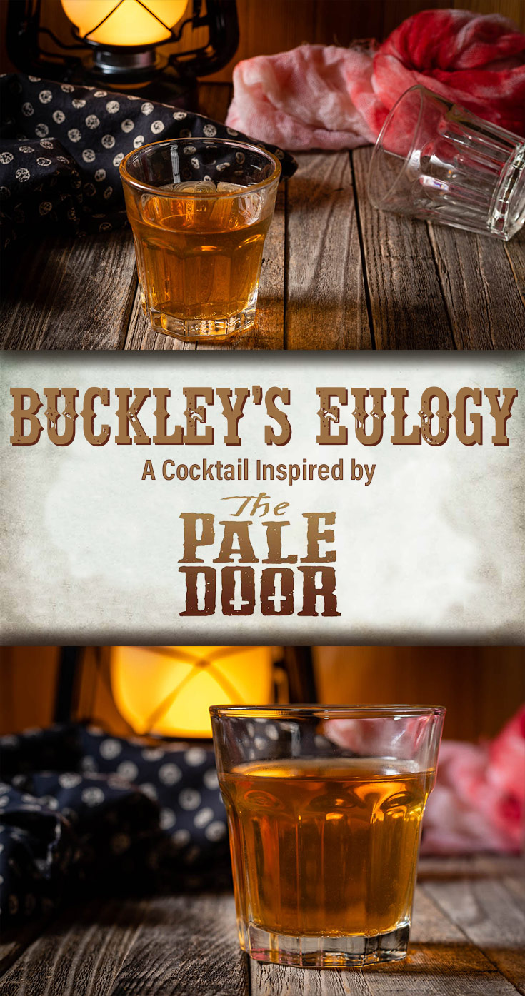 To celebrate the Shudder debut of The Pale Door, The Geeks have created a cocktail, Buckley's Eulogy and interview actor Jeremy King. 2geekswhoeat.com #Shudder #CocktailRecipes #HorrorMovieDrinks #HorrorMovieRecipes #RyeCocktails #ThePaleDoor