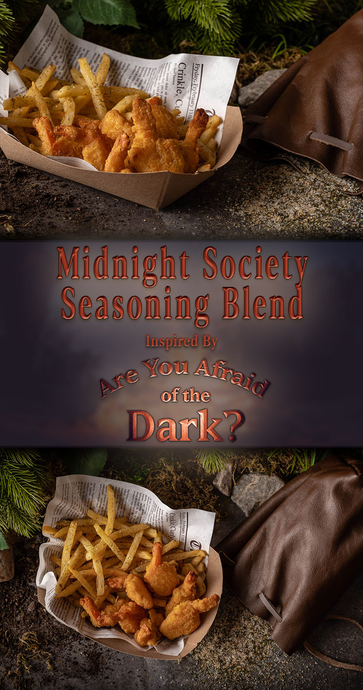 [ad] The Geeks have created a recipe inspired by Are You Afraid of the Dark? Curse of the Shadows. The Midnight Society Seasoning Blend is a perfect way to upgrade your fries or seafood! 2geekswhoeat.com #NickelodeonRecipes #DIYRecipes #SeasoningBlends #HorrorRecipes #TelevisionShowFood #GeekyRecipes #GeekyFood