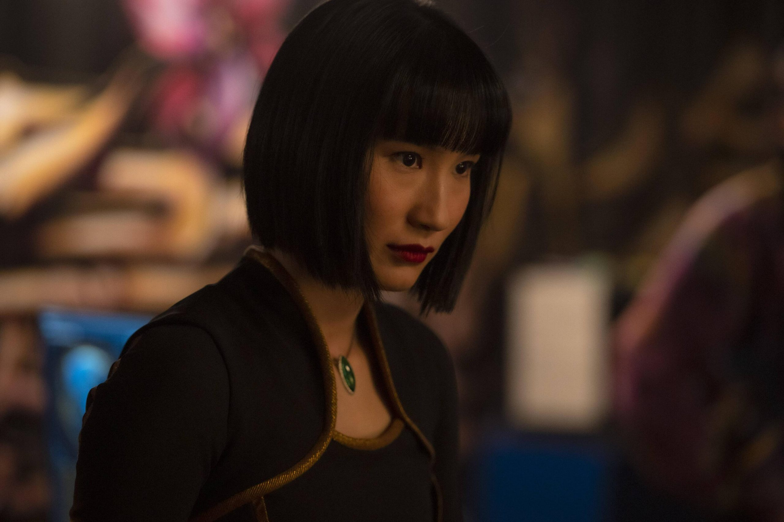 Xialing (Meng'er Zhang) in Marvel Studios' SHANG-CHI AND THE LEGEND OF THE TEN RINGS. Photo by Jasin Boland. ©Marvel Studios 2021. All Rights Reserved.